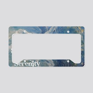surrender2serenity2_poster License Plate Holder