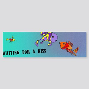 waiting for a kiss_fishes Sticker (Bumper)