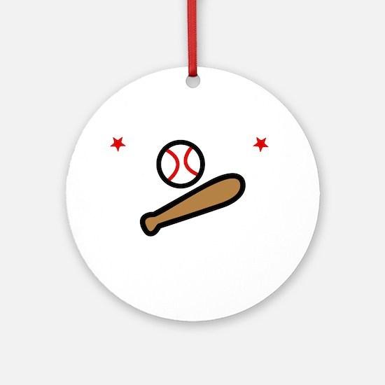 Softball Sis -dk Round Ornament