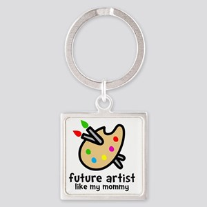 Artist Mom Square Keychain