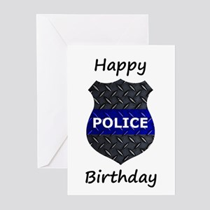 Police Birthday Card s Greeting Cards