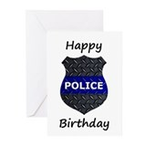 Police birthday Greeting Cards (20 Pack)