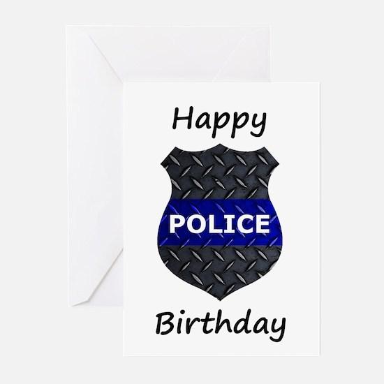 Police Birthday Card s Greeting Cards