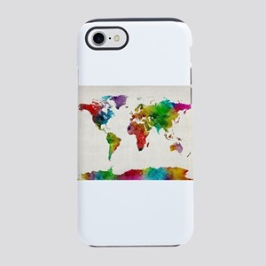 Watercolor Map of the World Ma iPhone 7 Tough Case