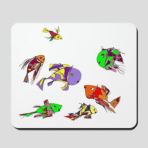 fishes_blue sea Mousepad
