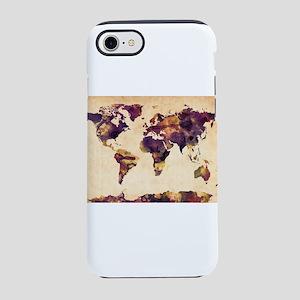 Watercolor World Map iPhone 7 Tough Case