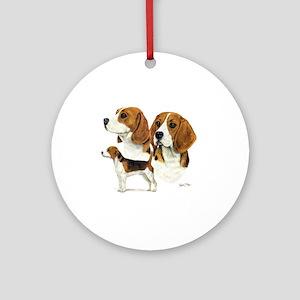 Beagle Multi Round Ornament
