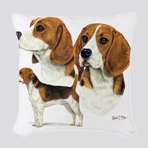 Beagle Multi Woven Throw Pillow