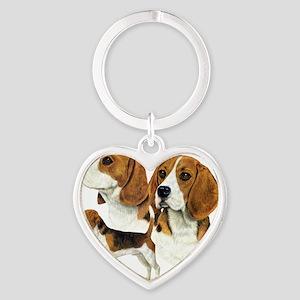 Beagle Multi Heart Keychain