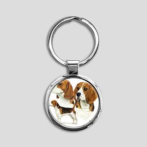 Beagle Multi Round Keychain