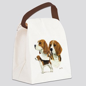 Beagle Multi Canvas Lunch Bag