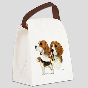 Beagle Multi Canvas Lunch Bag