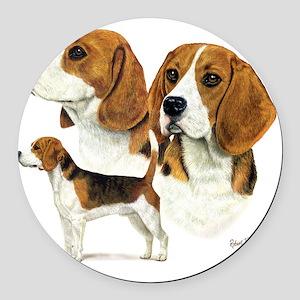 Beagle Multi Round Car Magnet