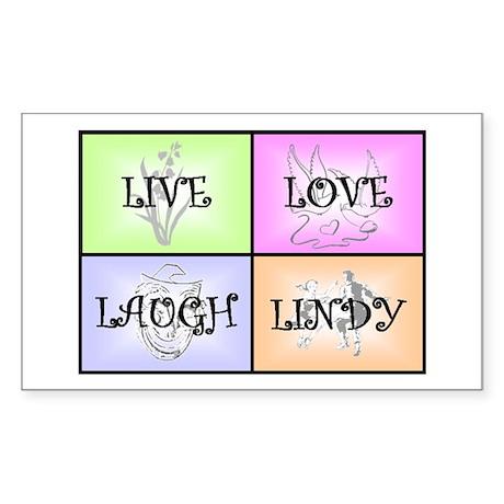 Live Love Laugh Lindy Sticker (Rectangle)