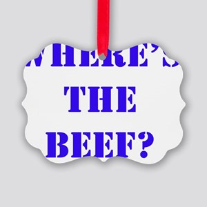 beef4 Picture Ornament