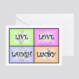 Live Love Laugh Lindy Greeting Cards (Pk of 10)
