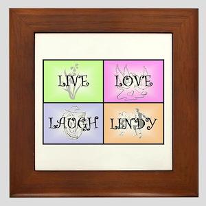 Live Love Laugh Lindy Framed Tile