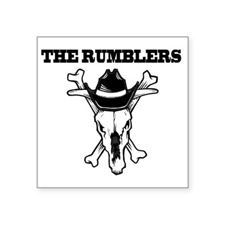 """The Rumblers - Chapel Hill, Square Sticker 3"""" x 3"""""""