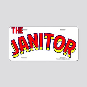 The Janitor Aluminum License Plate