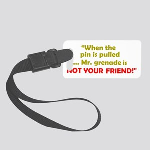 AVIATION HUMOR (DARK) Small Luggage Tag
