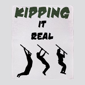Kipping it Real Throw Blanket