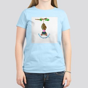 HANG IN THERE !!! ( POSSUM) Women's Pink T-Shirt