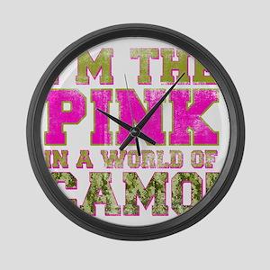 pink Large Wall Clock