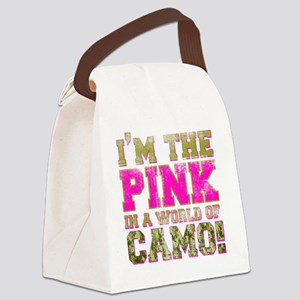 pink Canvas Lunch Bag