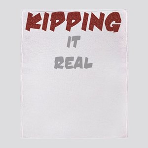 Kipping it Real Dark Throw Blanket