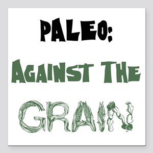 "Paleo Square Car Magnet 3"" x 3"""