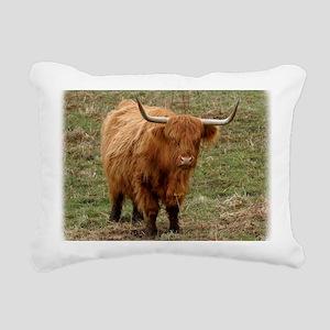 Highland Cow 9Y316D-053 Rectangular Canvas Pillow