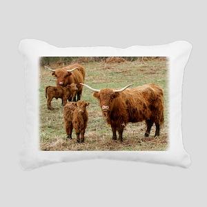 Highland Cattle 9Y316D-0 Rectangular Canvas Pillow