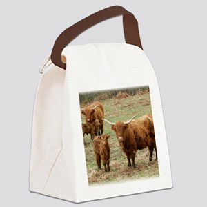 Highland Cattle 9Y316D-055 Canvas Lunch Bag