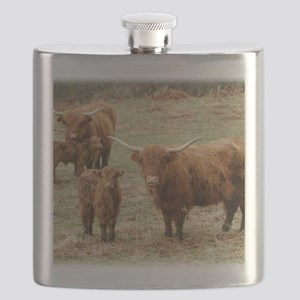 Highland Cattle 9Y316D-055 Flask