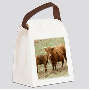 Highland Cow and calf 9Y316D-045 Canvas Lunch Bag