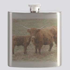 Highland Cow and calf 9Y316D-045 Flask