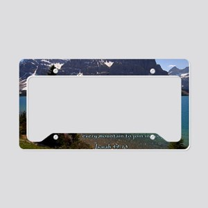 Isaiah 49-13 Mountain Lake License Plate Holder
