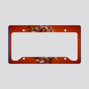 Wall Peel Dream Horses License Plate Holder
