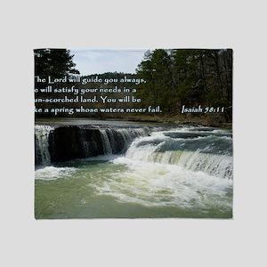 Isaiah 58-11 Waterfall Throw Blanket