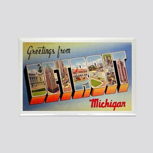 Detroit Michigan Greetings Rectangle Magnet