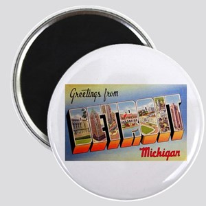 Detroit Michigan Greetings Magnet