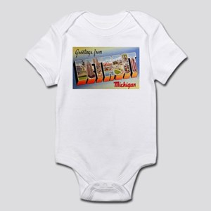 Detroit Michigan Greetings Infant Bodysuit