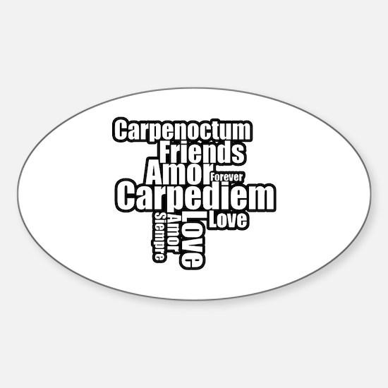 Cute Carpe noctum Sticker (Oval)