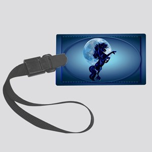 Wall Peel Rearing Stallion and B Large Luggage Tag