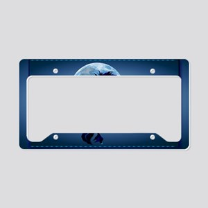 Wall Peel Rearing Stallion an License Plate Holder