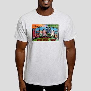 Detroit Michigan Greetings (Front) Ash Grey T-Shir