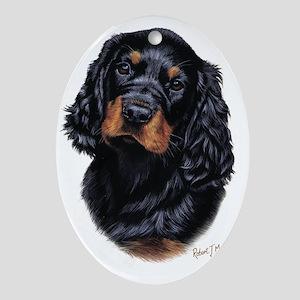 Gordon Pup Oval Ornament