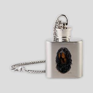 Gordon Setter 3 copy Flask Necklace