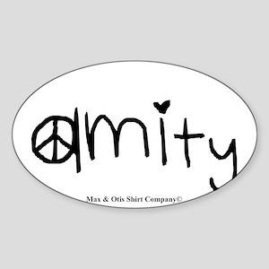 amity-divergent Sticker (Oval)