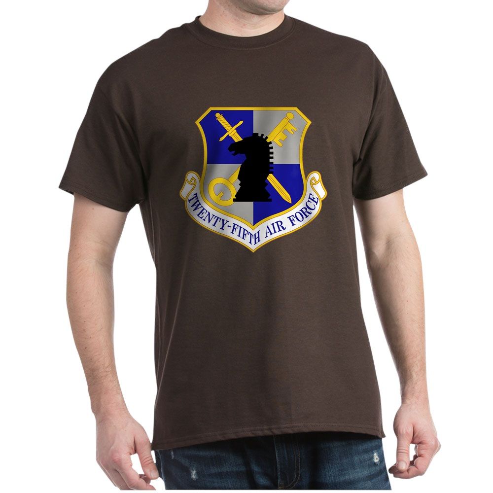 CafePress-USAF-Twenty-Fifth-Air-Force-Dark-T-Shirt-Cotton-T-Shirt-106123181 thumbnail 9